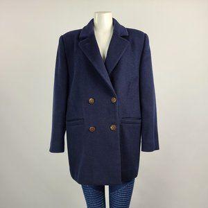Vintage Navy Wool Pea Coat Size L/XL